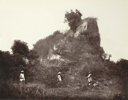 Gaur. Section of Bais Gaji Wall.